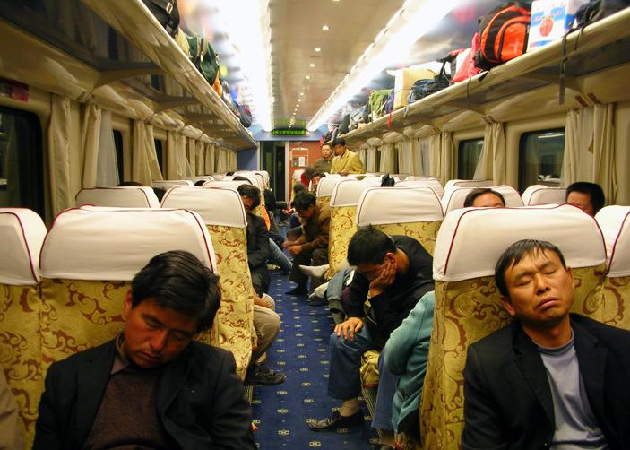 Hard Seats on Tibet Train