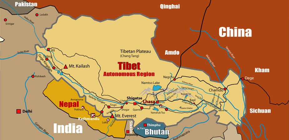 Tibet Reigonal Map