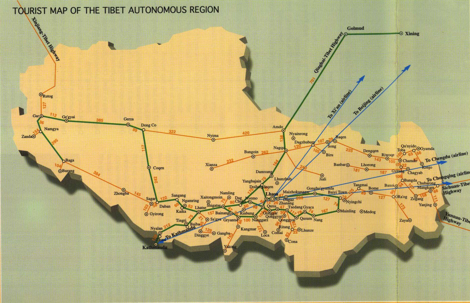 Tibet Regional Map 2