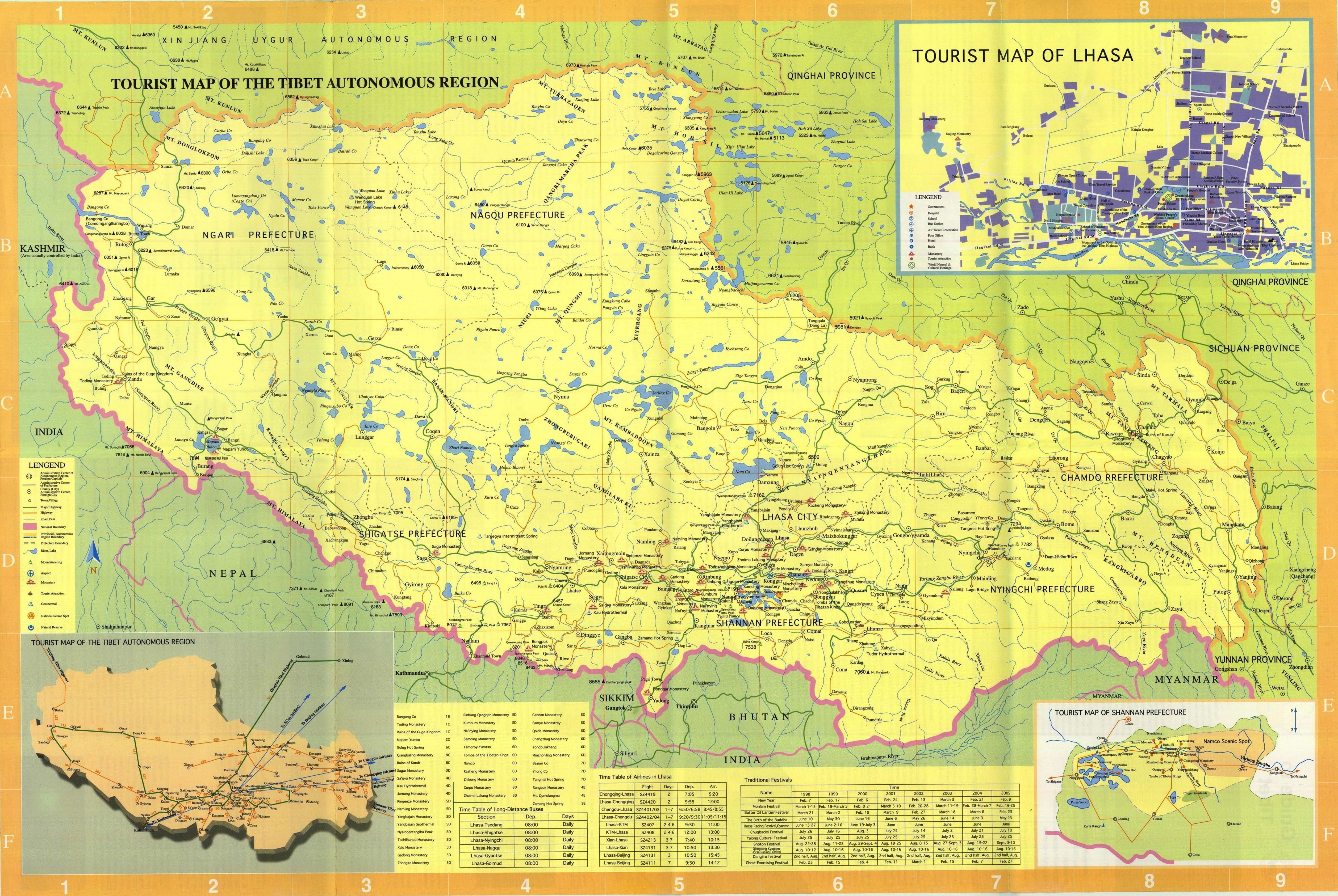 Tibet Map Full